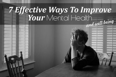 ways to improve mental health and well-being