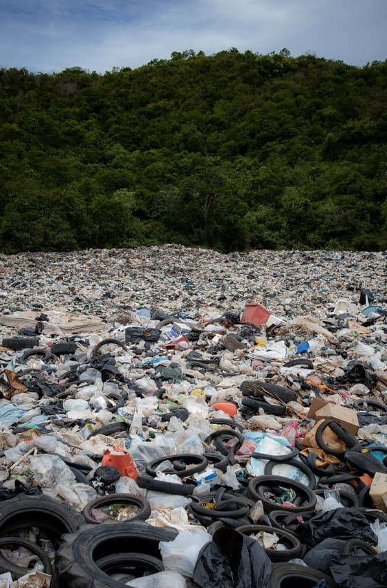environment pollution due to plastic waste