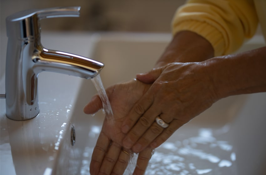 wash your hands often