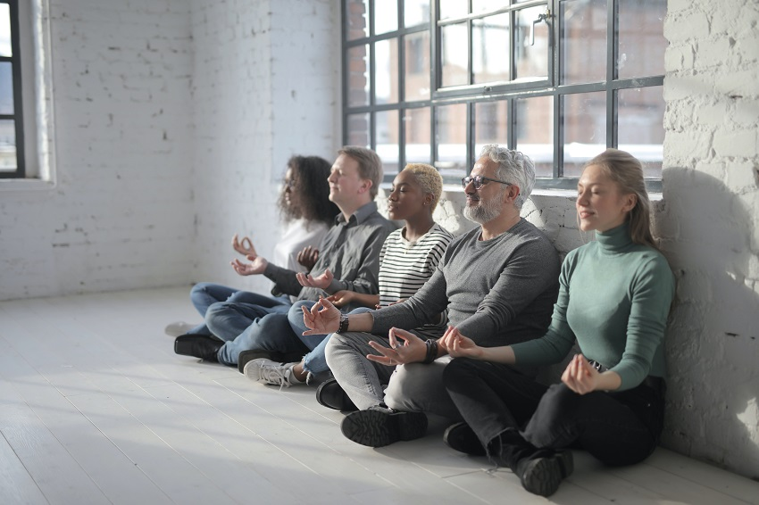 workplace yoga improves employee wellbeing