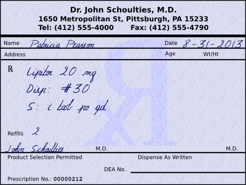 prescription system