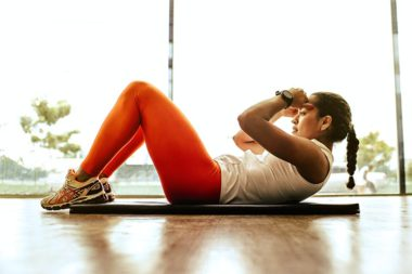 lady working out on the floor