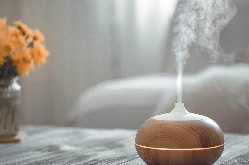 aromatherapy with essential oil