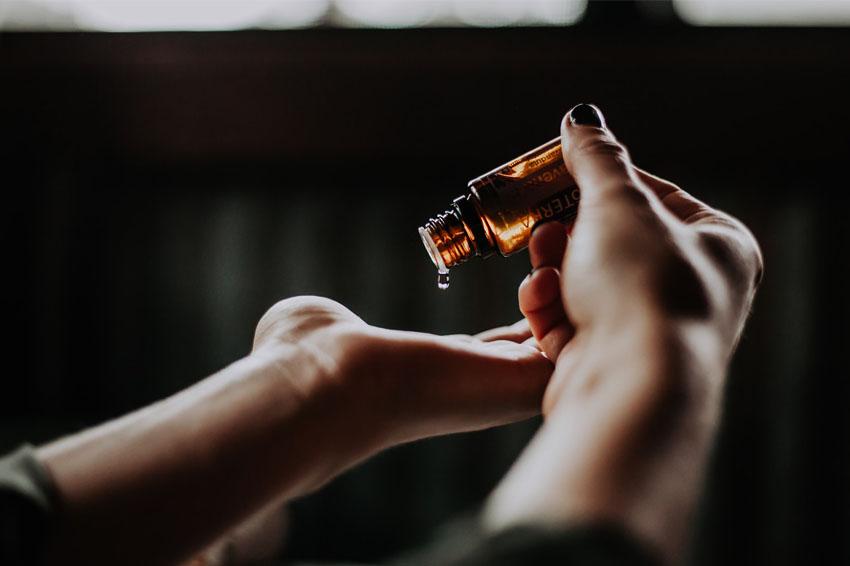 applying cbd oil to skin